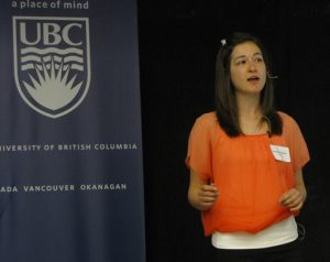 Natalie Sopinka, winner of the UBC 3-Minute Thesis Competition