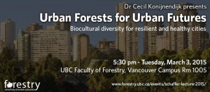 Healthy urban forests promote healthy futures