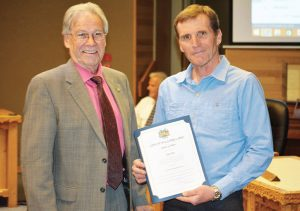 Congratulations to Ken Day on being awarded the Williams Lake City's Certificate of Merit