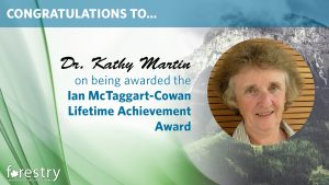 Congratulations to Kathy Martin on being awarded the Ian McTaggart-Cowan Lifetime Achievement Award