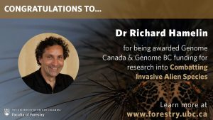 Richard Hamelin receives Genome Canada and Genome BC funding
