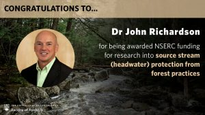 John Richardson receives NSERC funding